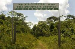 Entrance of jonestown