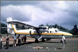 Guyana airways plane on kaituma airstrip